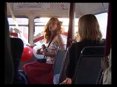 Lynda Styne Playing her Euk on My Wedding Bus