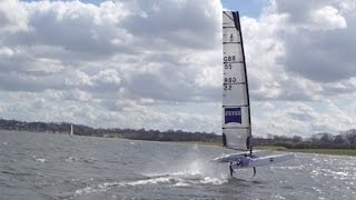 Foiling A Class Tuition    Rutland Water    11 April 2015