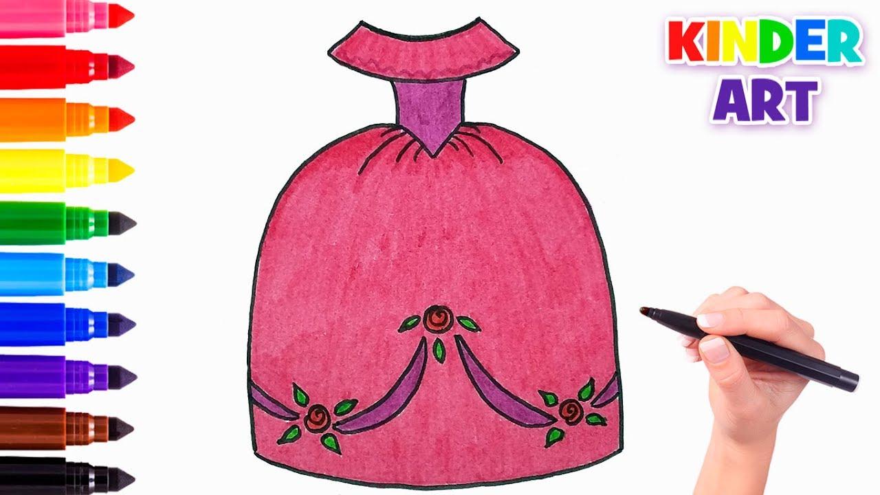 87c379706fa Как нарисовать пышное бальное платье принцессы