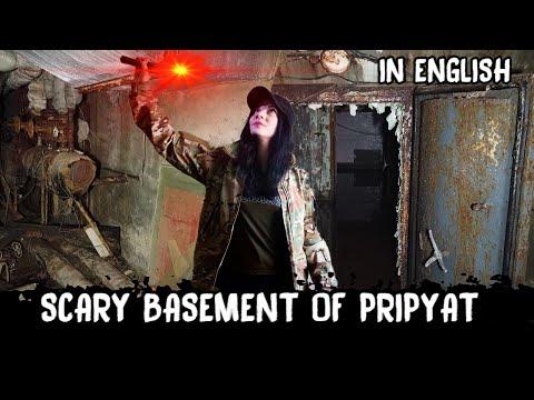 Scary cellars in Pripyat, exploration of Chernobyl zone