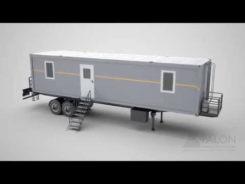 OPALON Prefabricated Rig Drilling Camp Mobile Container TRON - Animation