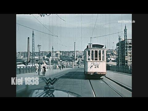 Kiel 1938 Color: Autofahrt / Autokorso Nach Lütjenburg Und Plön