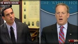 HECK YEAH! SEAN SPICER SAID 1 THING TODAY TO THIS REPORTER THAT HAS TRUMP JUMPING FOR JOY! thumbnail