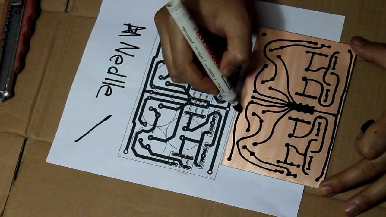 Hand Drawing PCB - YouTube