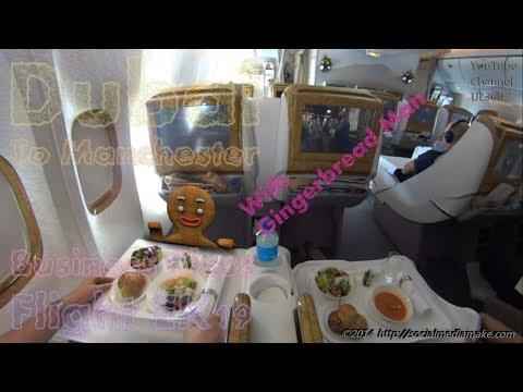 Emirates Business Class   Aboard Entire Flight   With Freaky Gingerbread Man   Flight EK19