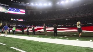 Saints flag unfurler falls, but doesn
