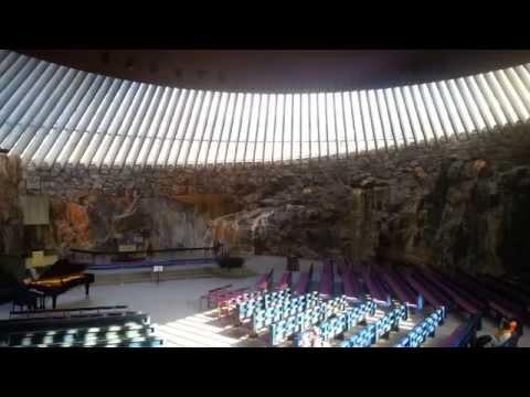 Helsinki Rock Church. Finland. Piano improvisation