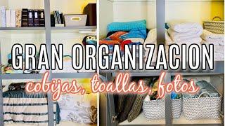 COMO ORGANIZAR LAS SABANAS Y TOLLAS. Organiza tu closet de cobijas y toallas . Marie Kondo metodo