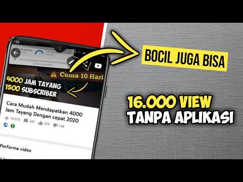 Tips banyak viewer di YouTube untuk chanel pemula😱.