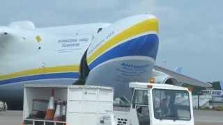 Antonov An-225 Mriya - Manchester Airport 26th june 2013