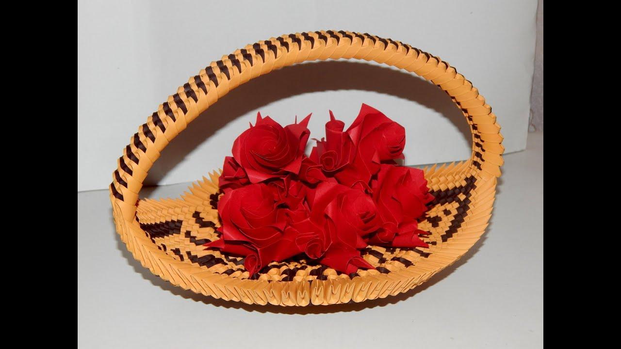 3D Origami - Cute Little Flower Basket (Using basic techniques ...   720x1280