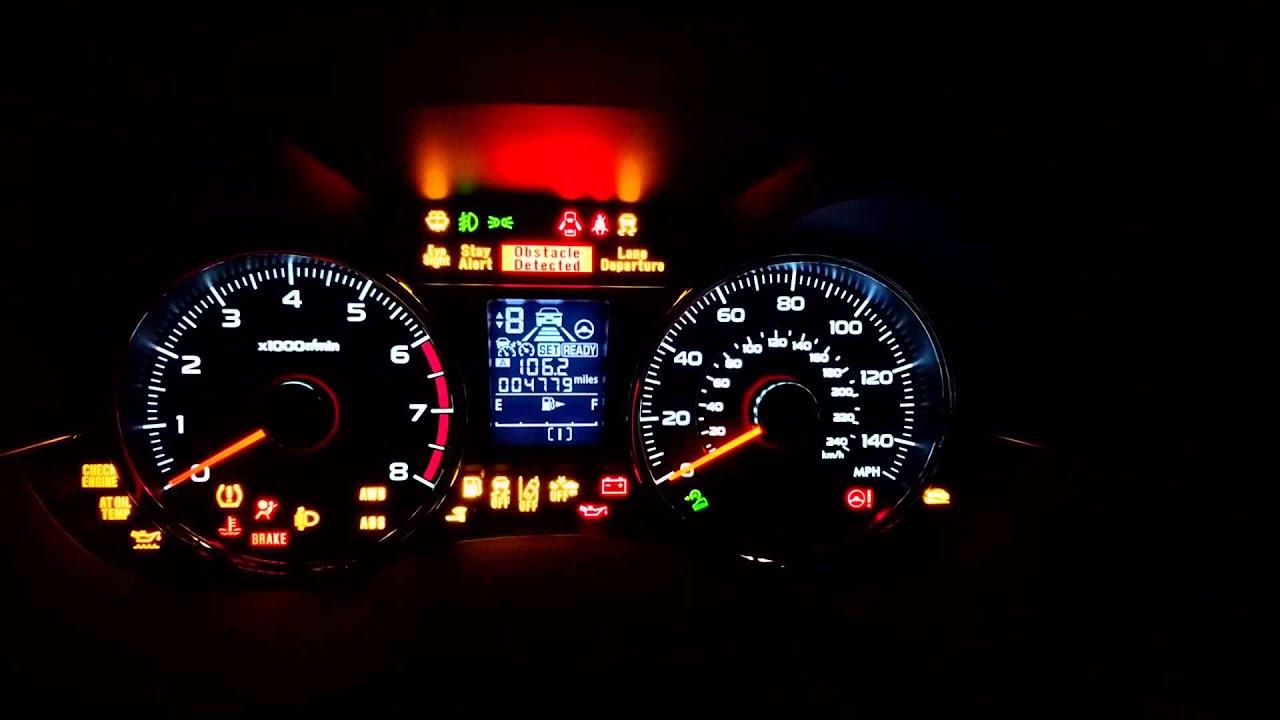 Subaru Forester Xt Eyesight Warning Lights Us Spec