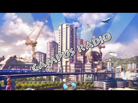 Cities Skylines Campus Radio WITH NEWSBREAKES ADVERTISING
