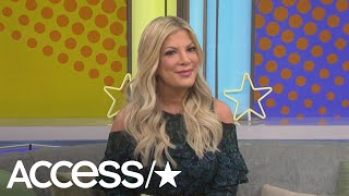 """Tori spelling dropped a big bombshell with access live and confirms """"90210"""" reboot is happening most of the original cast. she dished details on what ..."""