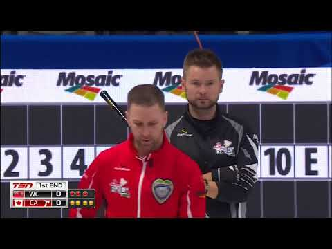 McEwen (WC) vs. Gushue (CA) - 2018 Tim Hortons Brier - Draw 8