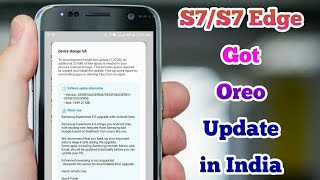 Samsung Galaxy S7/S7 Edge Got Oreo Update in India
