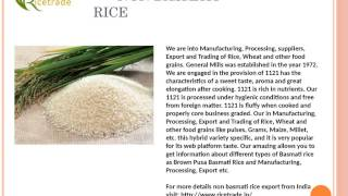 Basmati Rice, Basmati rice Export in India, Basmati rice Price in India