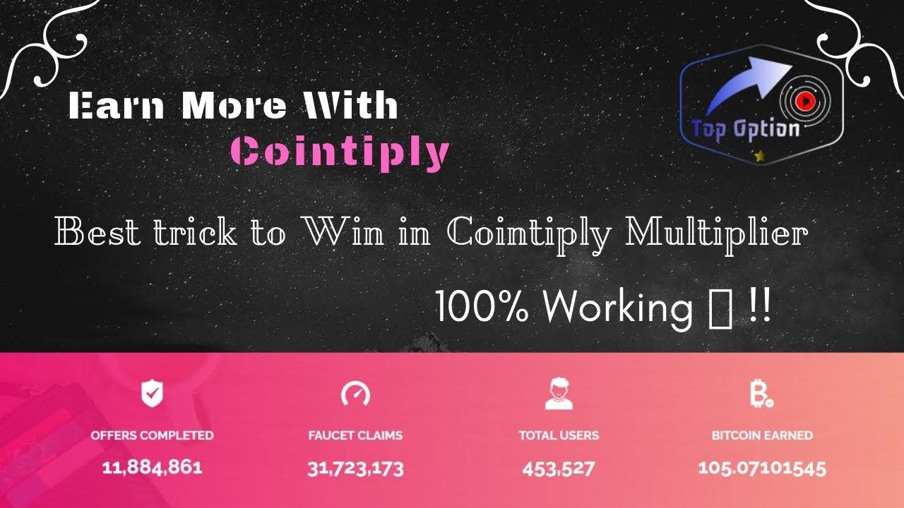 100% Working 🔥 !! best trick to win in cointiply multiplier 😎