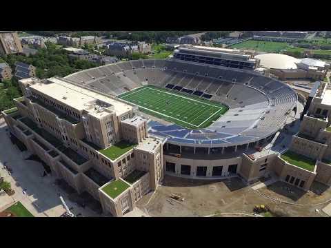 Notre Dame Football Stadium Construction update 7/23/17