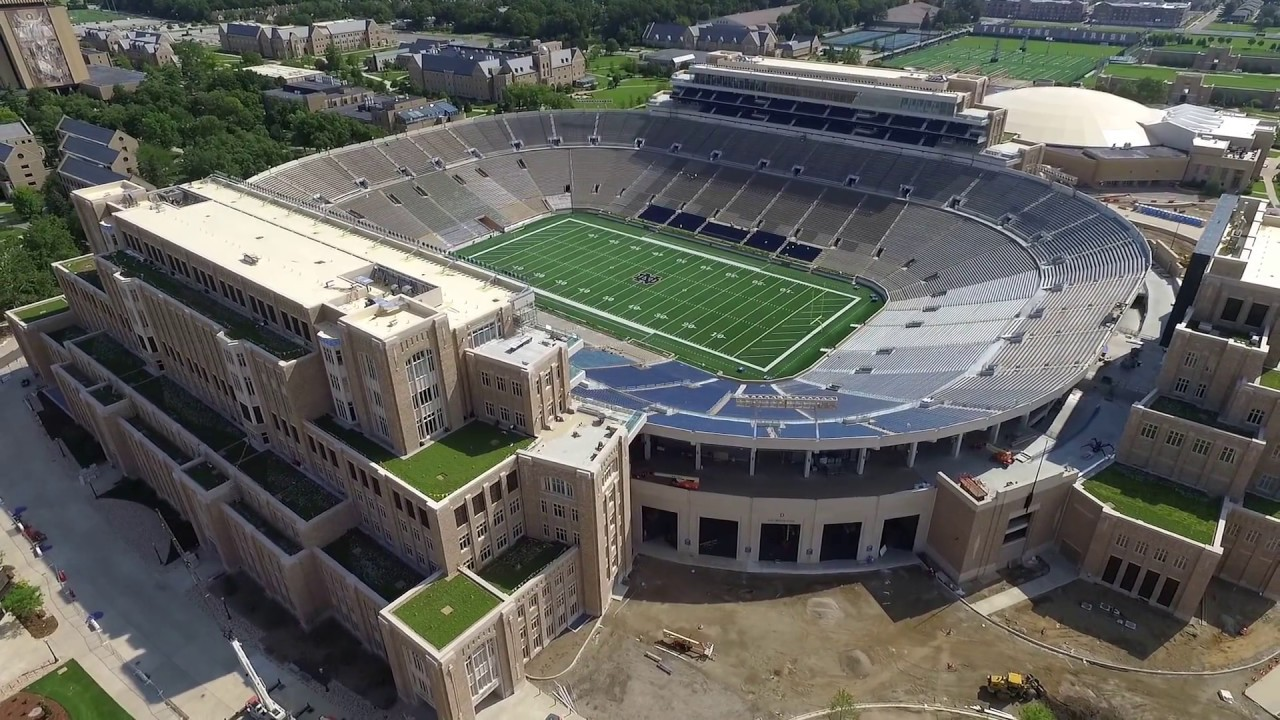 Notre Dame Football Stadium 2017