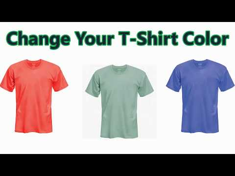 How To Change Your T Shirt Color   Just 2 Min    Creative Idea