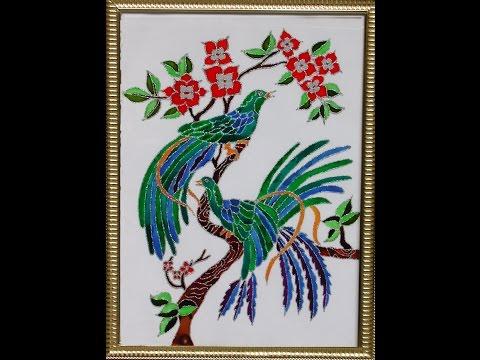 Glass Paintings - Beautiful Birds