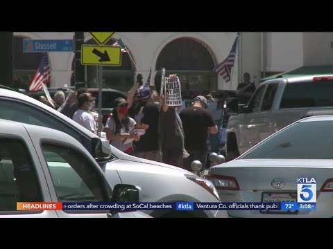 In Orange, Protesters Call For Reopening Orange County, California