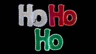 rope light motifs led white red green ho ho ho 1 4m