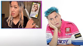 Hairdresser Reacts To People Going Blonde Using Only Box Dye