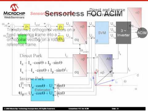 Sensorless Field Oriented Control (FOC) for AC Induction Motors