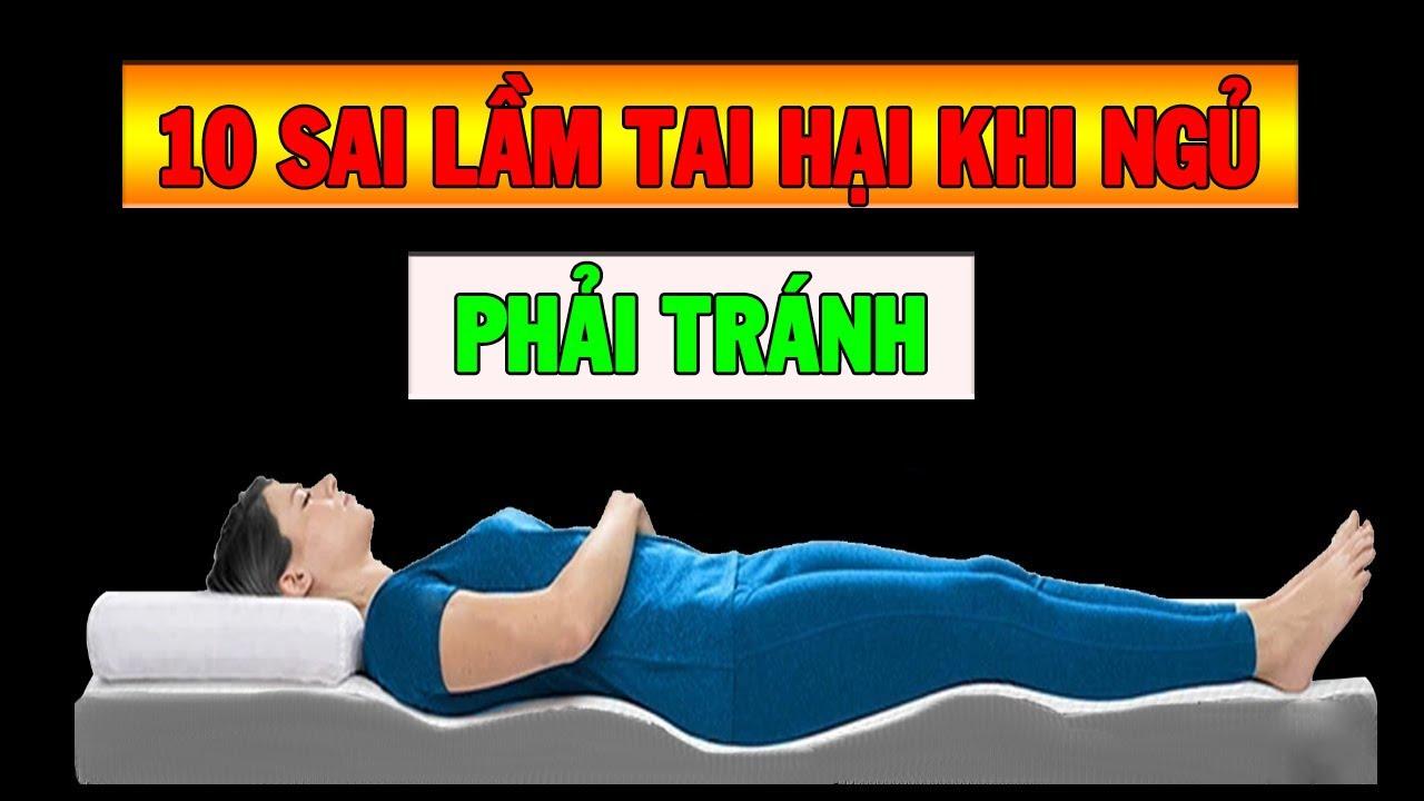 10 sai lầm tai hại khi ngủ bạn bạn nhất định phải tránh - Sống khỏe