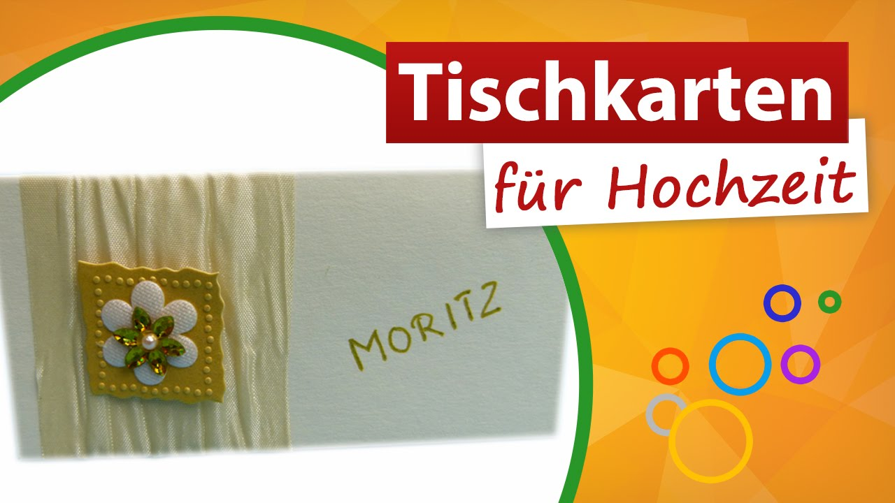 tischkarten f r hochzeit namensschilder basteln trendmarkt24 youtube. Black Bedroom Furniture Sets. Home Design Ideas