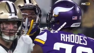Michael Thomas vs Xavier Rhodes (2017 NFC Divisional) | WR vs CB Highlights