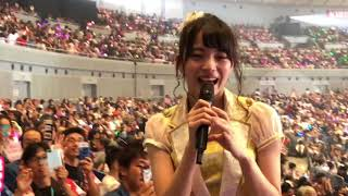 2018年8月1日、横浜アリーナで行われたAKB48世界選抜総選挙65位の後藤萌咲さんの推し席の撮影可能タイムの模様です。