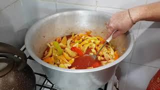 Перец с морковью и томатной пастой на зиму