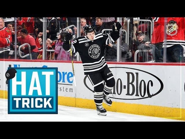 Alex DeBrincat collects fourth NHL hat trick