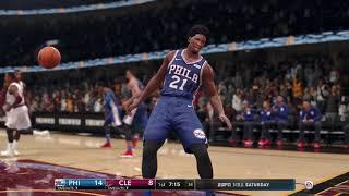 NBA Live 18 Season Game Philadelphia 76ers vs Cleveland Cavaliers 12 09 2017