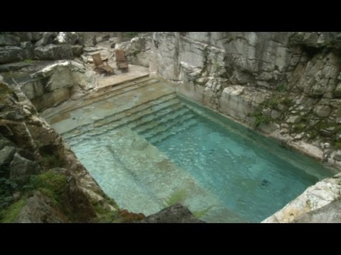 Swim In A Luxurious Quarry Turned Pool Youtube