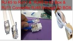 How to convert Rj45  to  RJ11 or Rj11 to Rj45