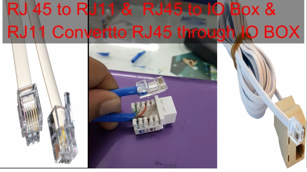how to convert rj45 to rj11 or rj11 to rj45 youtube rj45 to rj11 adapter wiring diagram rj45 to rj11 converter wiring diagram [ 1280 x 720 Pixel ]