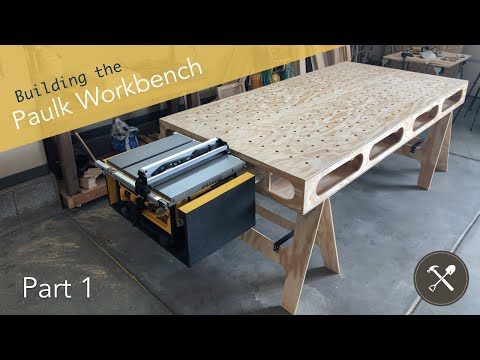 Building the Paulk Workbench, Part 1 (Main Cuts & Sawhorses)