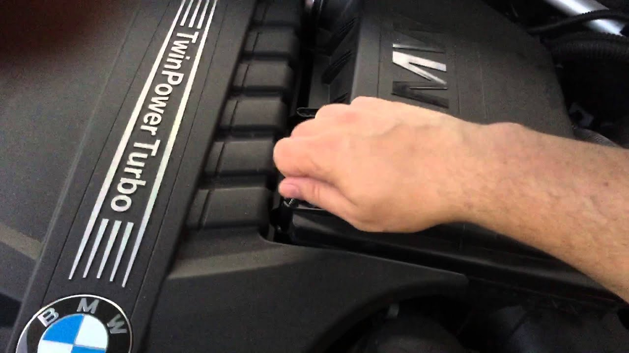 Bmw 2013 f25 x3 35i replacing k n air filter very dirty after 30 000 miles youtube