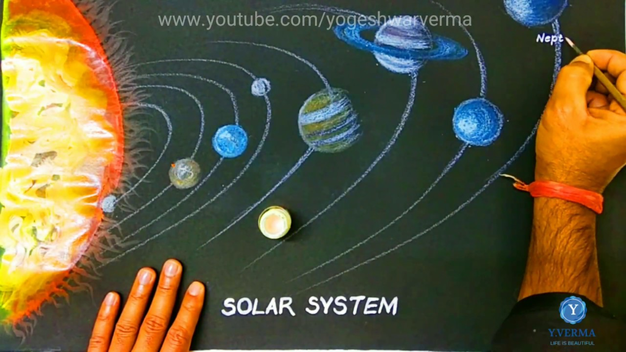 hight resolution of solar system drawing of solar system for project work
