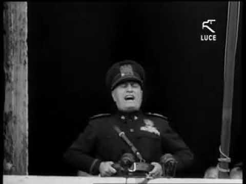 Discorso Camera Mussolini : Discorso di mussolini lentrata in guerra youtube