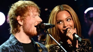 beyonce helps ed sheeran recover from 2017 grammy snub