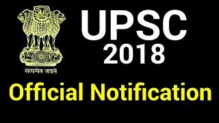 UPSC Official Notification 2018 | CIVIL SERVICE EXAMINATION