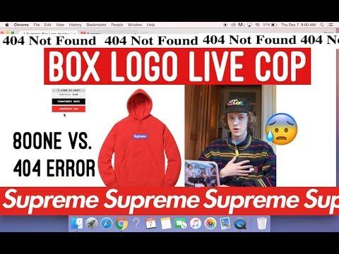 Supreme Box Logo Hoodie Live Cop 2017! (8oone vs. 404 Error)