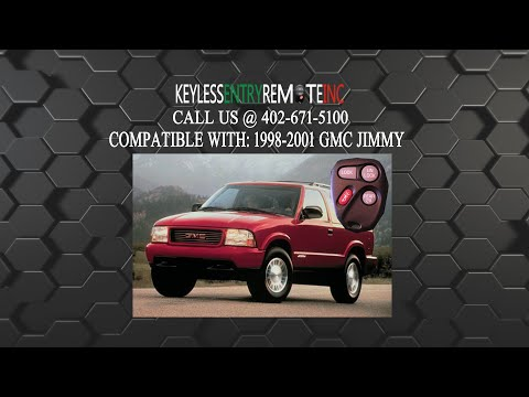 How To Replace GMC Jimmy Key Fob Battery 1998 1999 2000 2001