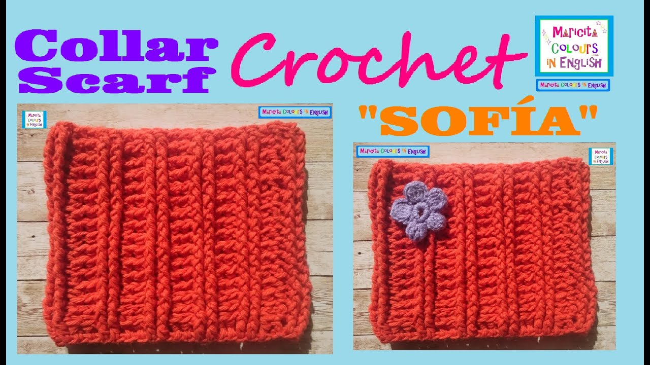 Collar Scarf Crochet Pattern Sofa By Maricita Colours In English