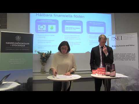 Lansering av Stockholm Sustainable Finance Centre